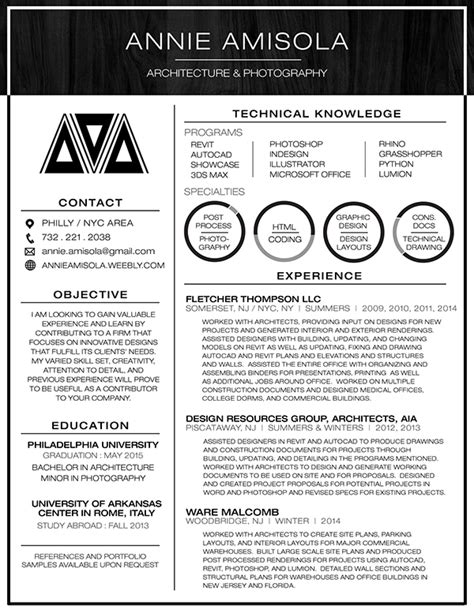 Architect Student Resume Sle Amisola Resume 2015 On Pantone Canvas Gallery
