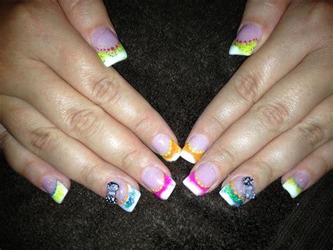 bright color nail designs bright summer color acrylic nail design s nail