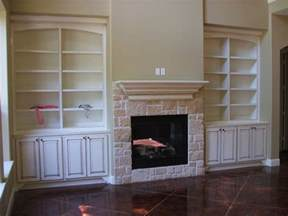 Fireplace Bookshelves Design Built In Bookcases With Fireplace Houses Plans Designs