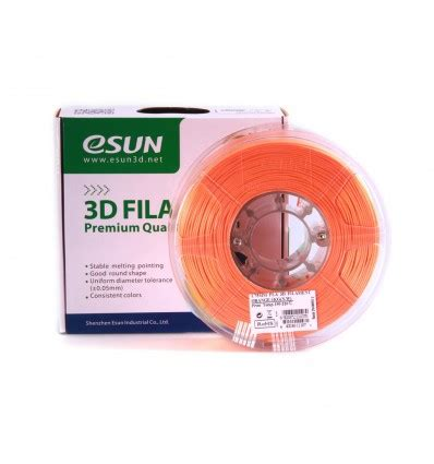 Pla 175mm Filamen 3d Printer Filament Orange Quality esun pla filament 1 75mm orange 0 5kg