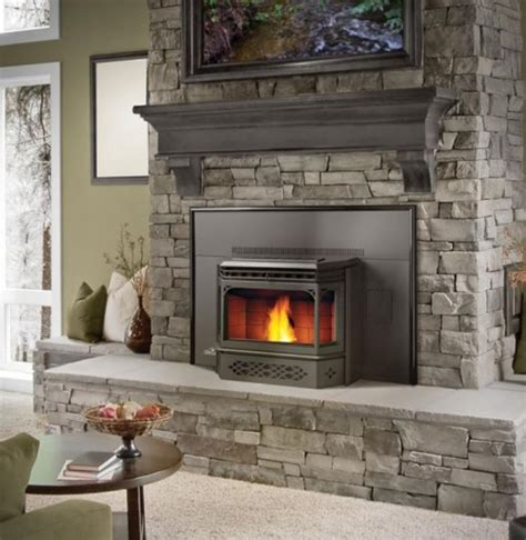 napoleon pellet burning fireplace insert