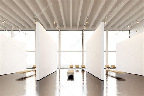 taking a stock of space lighting and design in your photo exposition space modern gallery blank white empty