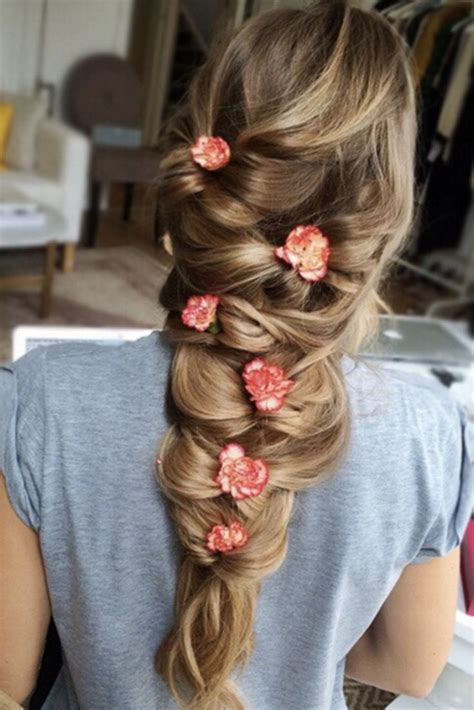 braided hairstyles luxy gorgeous bow braid with flowers on the beautiful zane