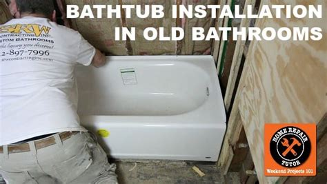 bathtub replacement installation bathtub replacement in old bathroom step by step