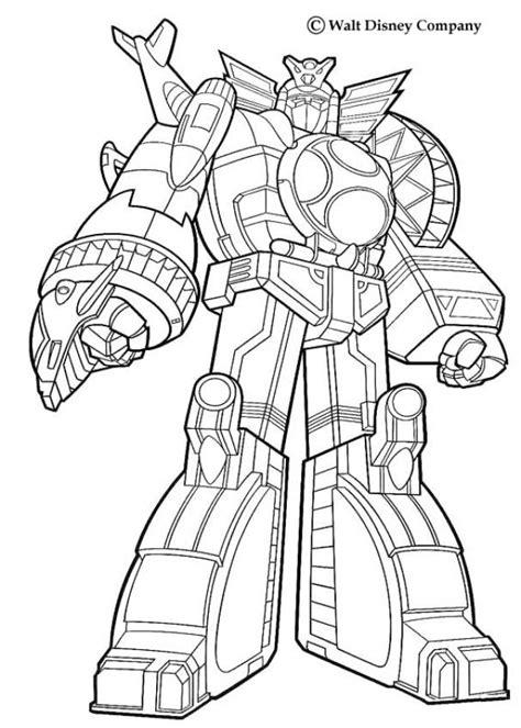 Kartun Robot Power Rangers - Gambar Mewarna