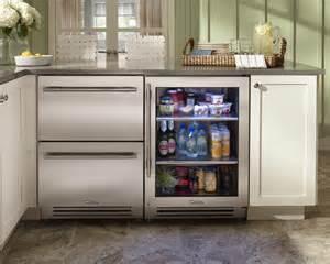 rhode island kitchen with true residential 24 kitchen island next to refrigerator kitchen design