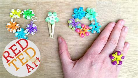 Loom Band Flower Ring & Bracelet DIY   Red Ted Art's Blog