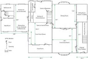 How To Measure Floor Plans by House Renovations Blog 187 Niles House Floorplan First Floor