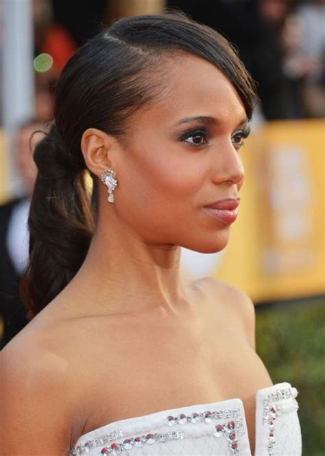 southafrican black hairstyles pony tails with fringe side hairstyles side swept hairstyles