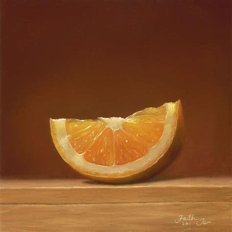orange painting orange glow painting realistic art by faith te