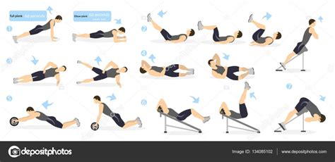 abs workout for stock vector 169 inspiring vector gmail 134085102