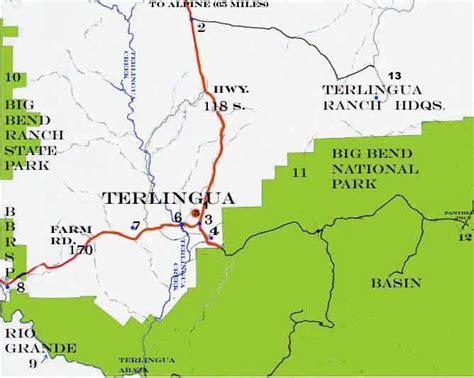 lajitas texas map terlingua texas