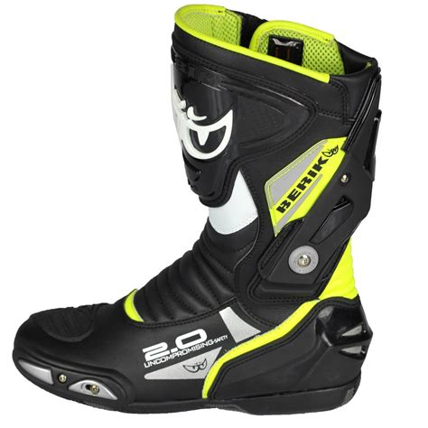 berik motocross boots berik 2 0 gpx mens leather boots black yellow online