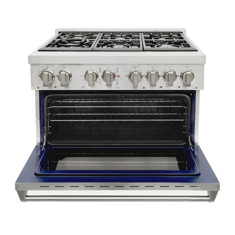 Oven Gas Cosmos 36 in 4 5 cu ft stainless steel dual fuel range