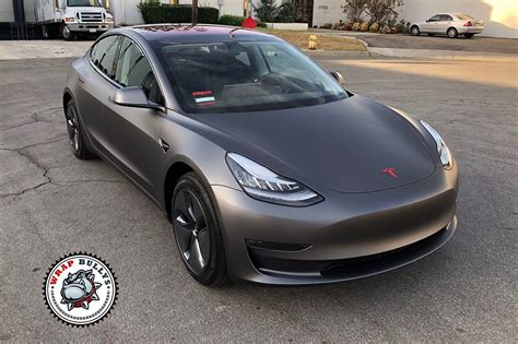 tesla model 3 gray 3m matte grey tesla model 3 car wrap wrap bullys