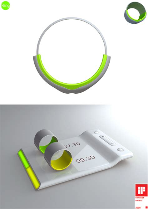 ring alarm clock with vibrating system by fandimeng