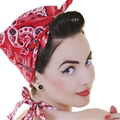 how to wear a bandana with short hair vintage styles for short hair
