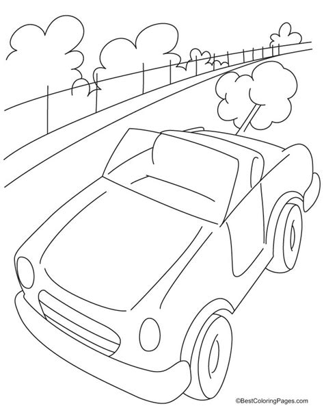 Highway Coloring Page