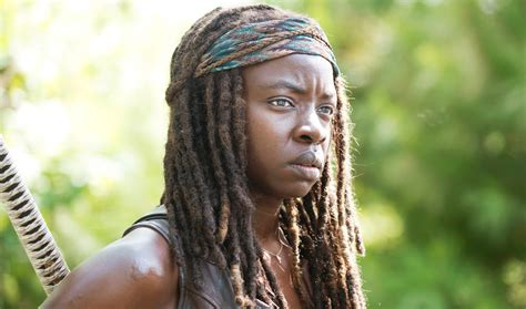 Walking Dead Michonne blogs the walking dead danai gurira teases season 6 to ew greg nicotero talks walkers with