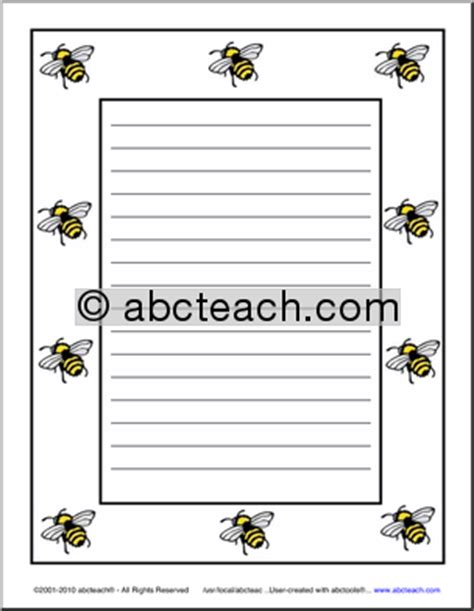 bee writing paper pin bee writing paper on
