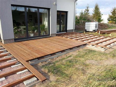 terrasse selber bauen holz gartenbrunnen selber bauen