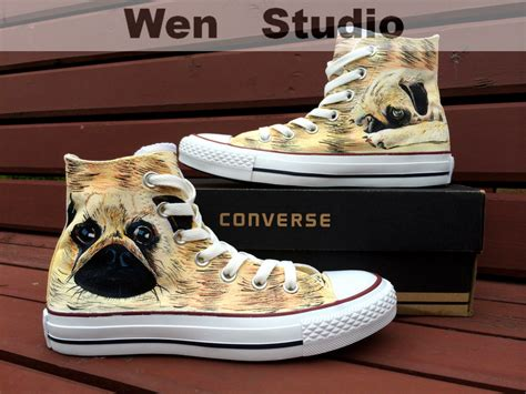 shoes for pugs i design pug converse custom pug shoes by wenwenstudio