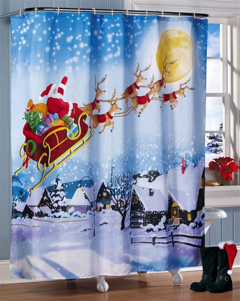 holiday bathroom decor sets snowman shower curtains holiday home decoration club