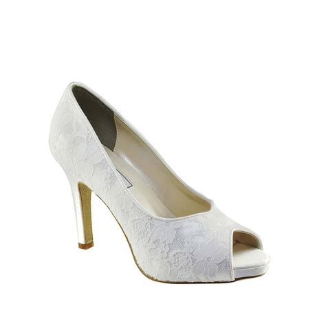 touch ups dyeable white lace s high heel