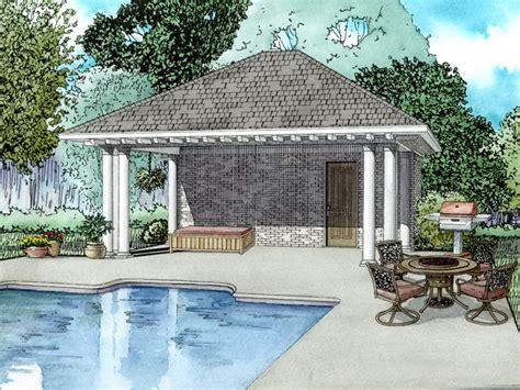 pool house plans pool house plan with equipment storage