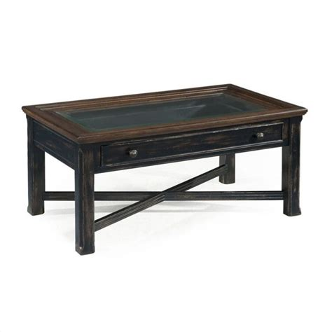 Large Rectangular Coffee Table Magnussen Clanton Wood Large Rectangular Coffee Table In Antique Black T2365 50