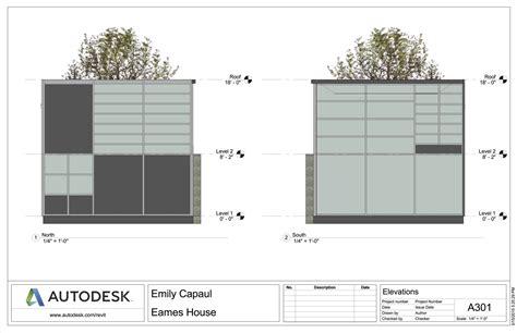 Plans House eames house emily capaul portfolio