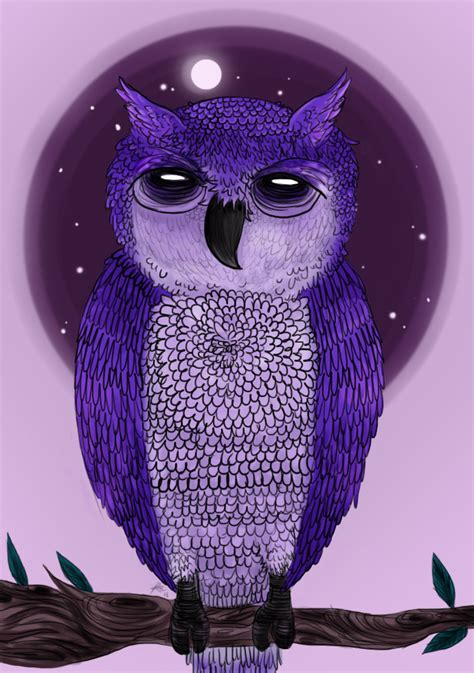 Owl Purple purple owl by chocoreaper on deviantart