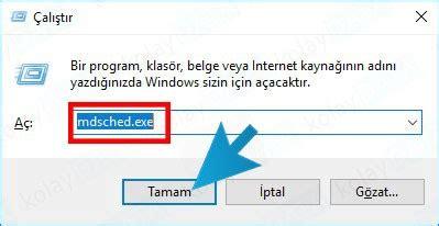 memory testo windows ram testi nas箟l yap箟l箟r h箟zl箟 ram testi