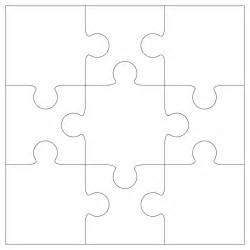 Printable Jigsaw Puzzle Maker Blank Jigsaw Puzzle Template White Gold