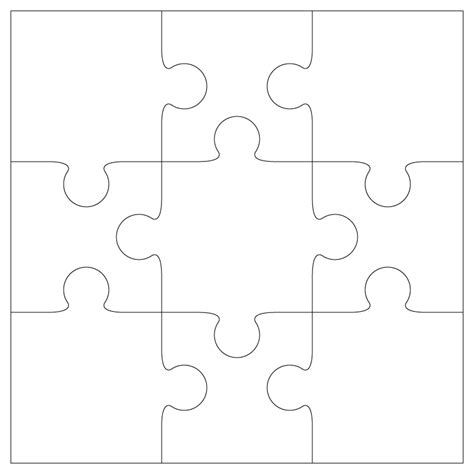 Printable Blank Jigsaw Puzzles | puzzle piece template printable free clipart best