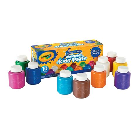 acrylic paint is it washable 10 color crayola 174 classic colors kid s washable paints