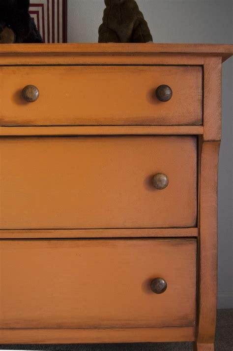 Orange Dresser orange painted dresser furniture renovations