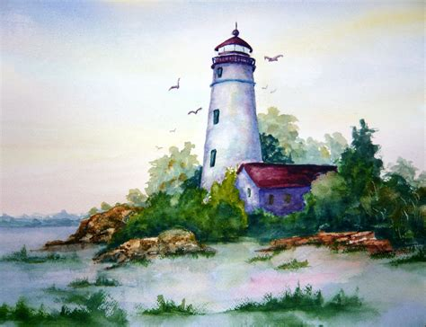 watercolor lighthouse tutorial lighthouse watercolor sold jpg 3 000 215 2 304 pixels