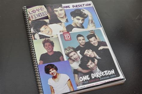 Notebook Buku One Direction one direction diy notebook 183 how to make a collages