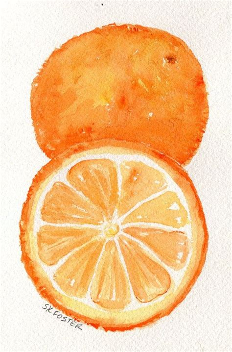 oranges painting oranges watercolors paintings fruit wall 4 x 6 original citrus wall