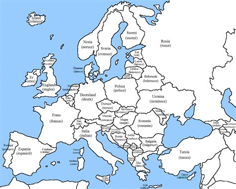 blank map of america and europe blank european maps white gold