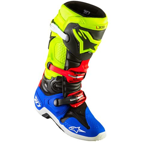 red motocross boots alpinestars new 2016 a1 mx tech 10 black blue red fluro