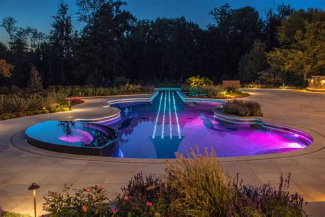 pool lighting ideas ny glass tile swimming pool design wins top national awards