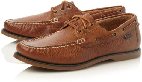 polo bienne boat shoe tan polo ralph lauren bienne lace up tumbled leather boat
