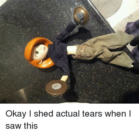 I Shed Tears by Okay I Shed Actual Tears When I Saw This Saw Meme On Sizzle