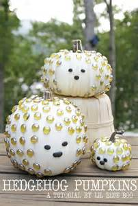 pumpkin ideas decorating hedgehog pumpkins pumpkin decorating ideas lil blue boo