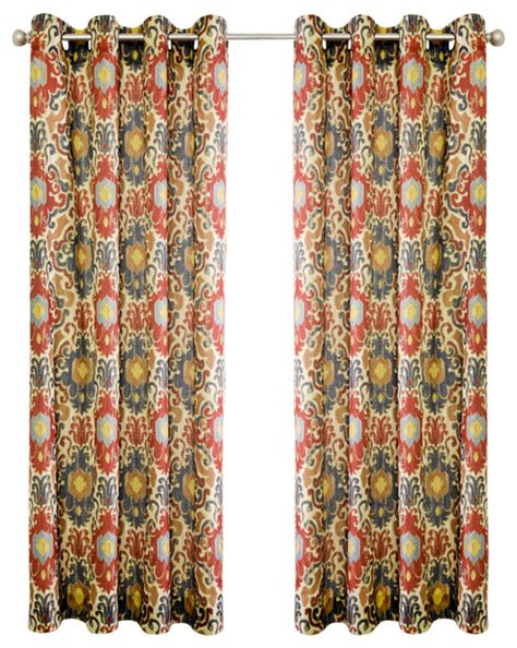 tuscany curtains ellis curtain tuscany 50 quot x84 quot lined grommet panel red
