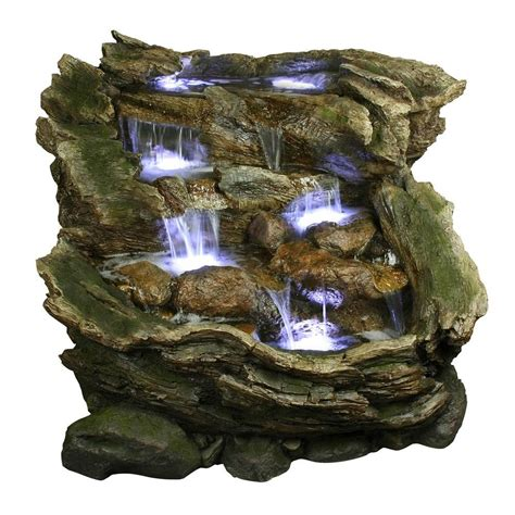 Feng Shui Garten 2763 by Alpine 3 Tier Rainforest With Led Lights Win562
