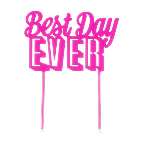 besta day best day ever wedding cake topper at favour this