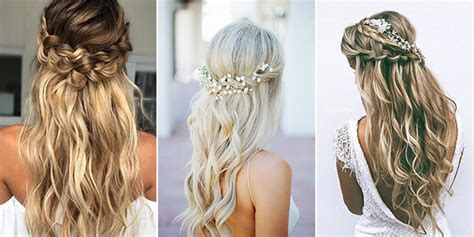 hairstyles down for medium hair 15 chic half up half down wedding hairstyles for long hair